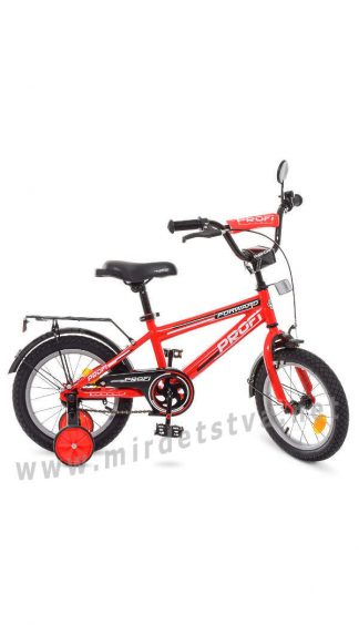 Красный детский велосипед Profi 14д Т1475