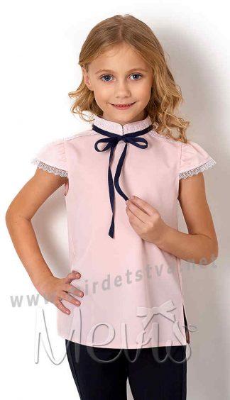 Нарядная блуза короткий рукав Mevis 2718-02