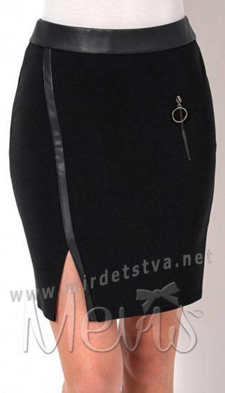 Подростковая черная юбка в школу Mevis 2655-02