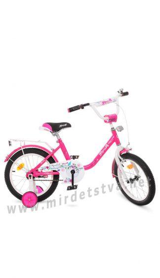 Розовый велосипед Profi 16д. Y1682 со страховочными колесами