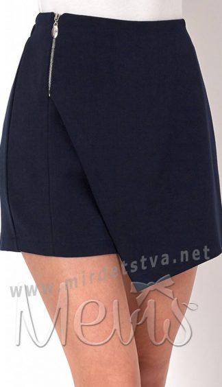Синие подростковые школьные юбка шорты на девочку Mevis 2731-01