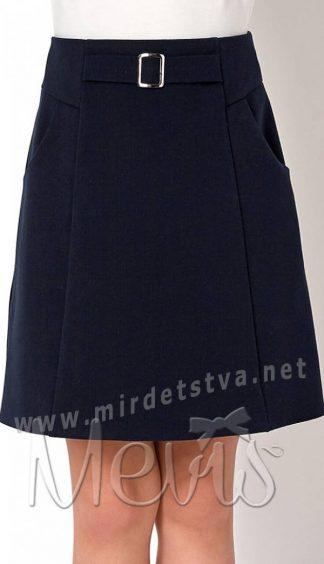 Синяя детская юбка в школу Mevis 2747-01