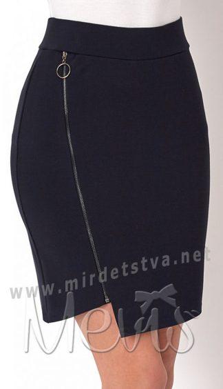 Синяя школьная юбка для старшеклассниц Mevis 2692-01