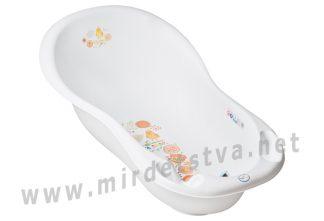 Белая ванночка Tega Folk FL-005 LUX 102 cm 103 white с термометром