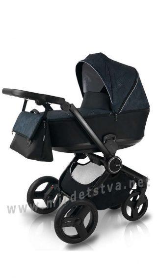 Черная коляска 2в1 Bexa Fresh FR-2 (геометрические узоры)