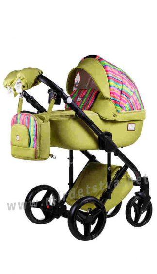 Детская коляска 2в1 Adamex Luciano jeans Q312