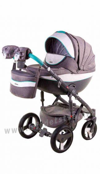 Детская коляска 2в1 Adamex Monte Deluxe Carbon D2