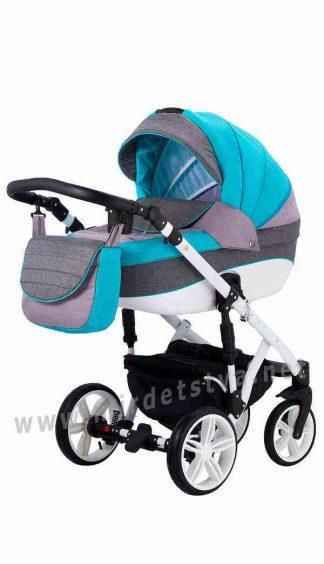 Детская коляска 2в1 Adamex Prince TIP 21-B