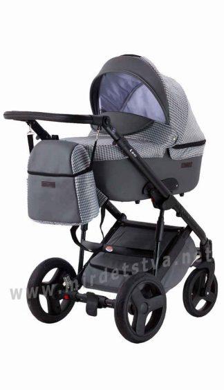 Детская коляска 2в1 Bair Leo GN-105 ткань-кожа