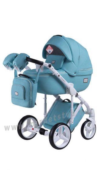 Двухмодульная детская коляска 2в1 Adamex Luciano Q113 кожа