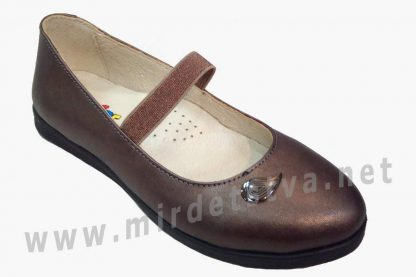 Классические кожаные туфли балетки для девочки Bistfor 70159/840 (78159/840)