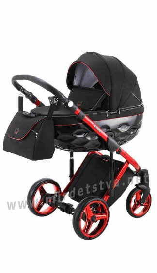 Коляска для малыша 2в1 Adamex Chantal Polar (Red Chrome) C9