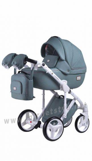 Коляска для новорожденных 2в1 Adamex Luciano Q114 кожа