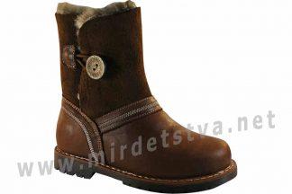 Красивые кожаные ортопедические зимние ботинки для девочки 4Rest Orto 06-712МЕХ