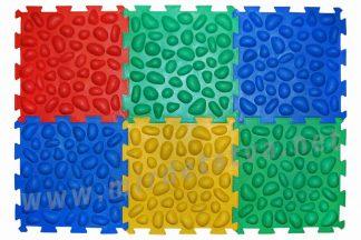 Массажный коврик Пазлы 6 элементов