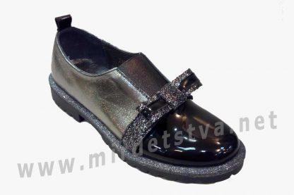 Модные детские туфли в школу для девочки Bistfor 97200/381/753