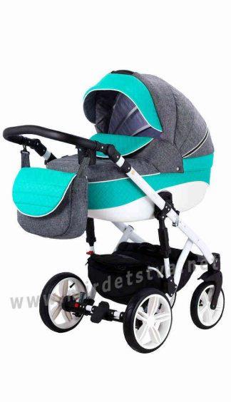 Модульная коляска 2в1 для малышей Adamex Prince X-11