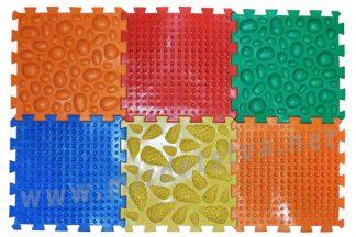 Ортопедический коврик Пазлы Микс 6 элементов