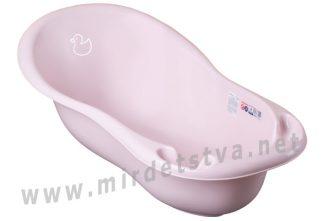 Розовая ванночка Tega Duck DK-005 102см 130 light pink