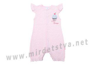 Розовый трикотажный полукомбинезон на девочку Minikin 1815502