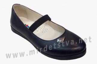 Школьные фабричные кожаные туфли балетки девочке Bistfor 70159/823 (78159/823)