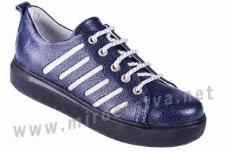 Синие модные туфли ортопедия для старшеклассниц 4Rest Orto 18-205