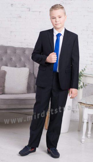 Синий классический костюм мальчику в школу Новая Форма Tomas 09.4