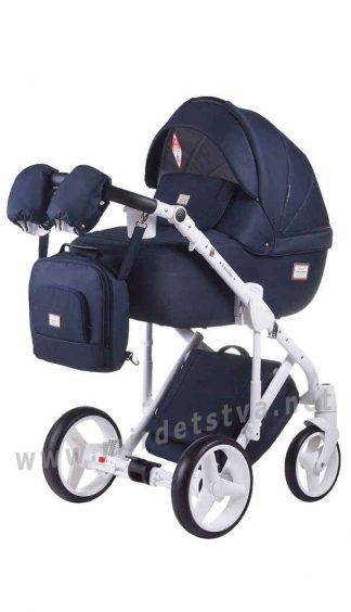 Синяя коляска 2в1 Adamex Luciano jeans Q5