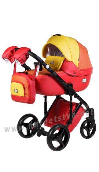 Универсальная коляска 2в1 Adamex Luciano Q269 кожа