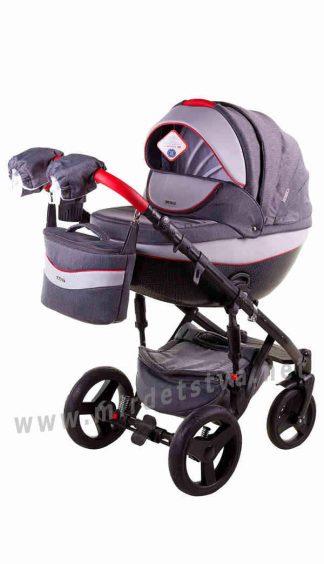 Универсальная коляска 2в1 Adamex Monte Deluxe Carbon D5