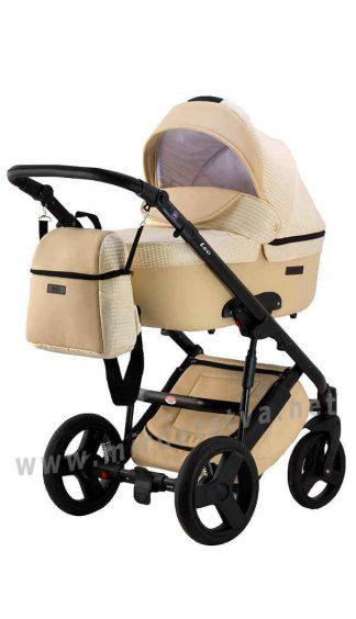 Универсальная коляска 2в1 Bair Leo ткань-кожа GN-101
