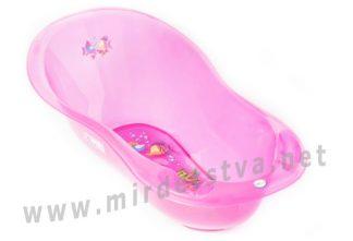 Ванночка детская Tega Aqua AQ-005 LUX 102 см с термометром 117 pink