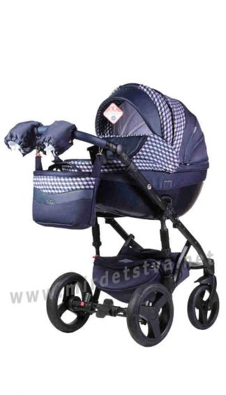 Всесезонная коляска 2в1 Adamex Monte Deluxe Carbon D62