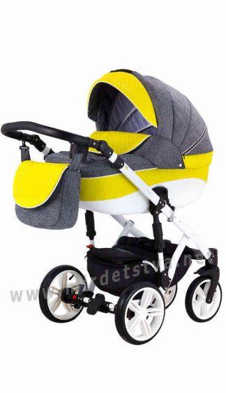 Яркая детская коляска 2в1 Adamex Prince X-14-B