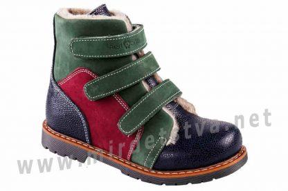 Зимние кожаные ортопедические ботинки антивальгус 4Rest Orto 06-753МЕХ