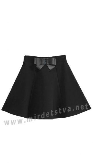 Черная юбка-клеш школьная Deloras 60832-19