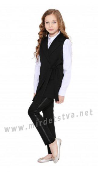 Черные брюки с лакированными кантами Lukas 9217