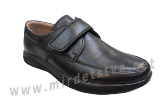 Черные мокасины для школы Kangfu C1625 кожа