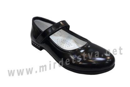 Черные школьные туфли для девочек Bistfor 98115/226