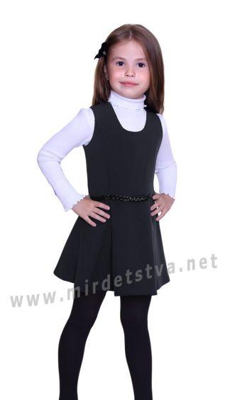 Черный школьный сарафан Purpurino 234201