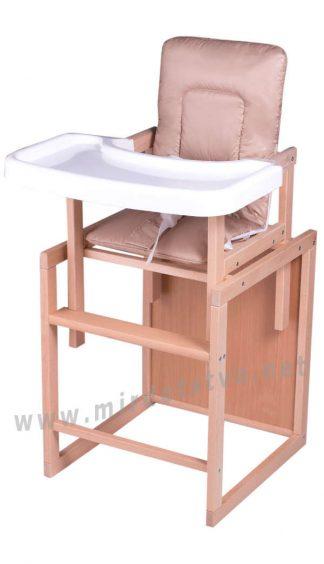 Деревянный стульчик для кормления трансформер Бук-01 ECO капучино