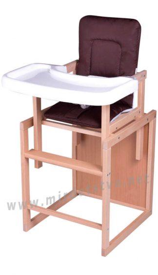 Детский деревянный стол-стул для кормления трансформер Бук-01 ECO