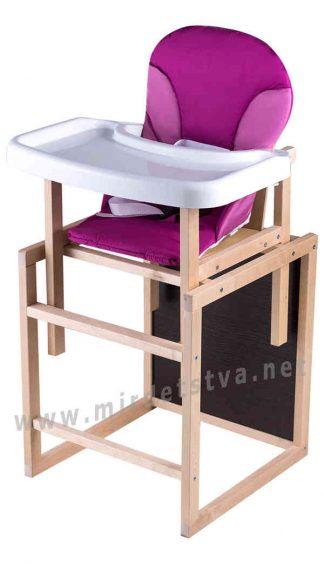 Детский стульчик для кормления Пони-230 eko малина-розовый
