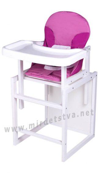 Детский стульчик для кормления Пони-240 малина-розовый