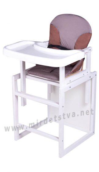 Детский стульчик трансформер для кормления Пони-240 капучино-шоколад