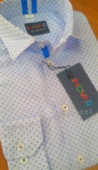 Голубая рубашка с длинным рукавом INGVAR 87