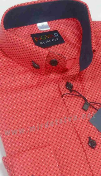 Красная рубашка с длинным рукавом INGVAR 10125