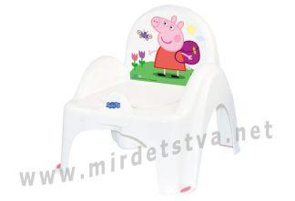 Музыкальный стульчик горшок Tega Peppa Pig PO-068 103-R white pink