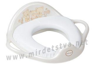 Мягкая накладка на унитаз Tega Teddy Bear MS-020 Soft 118 white pearl