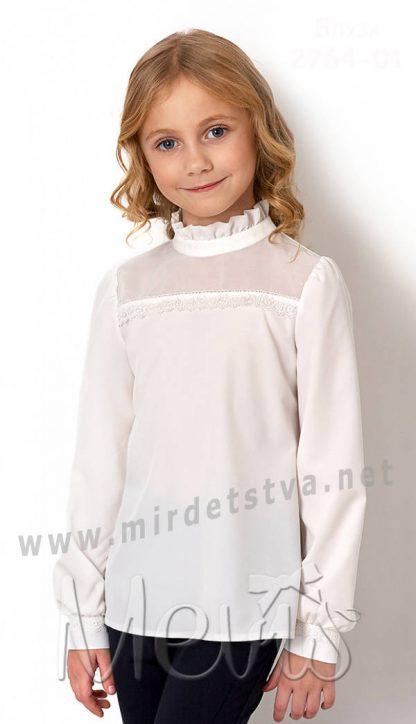 Нарядная белая блуза Mevis 2764-01